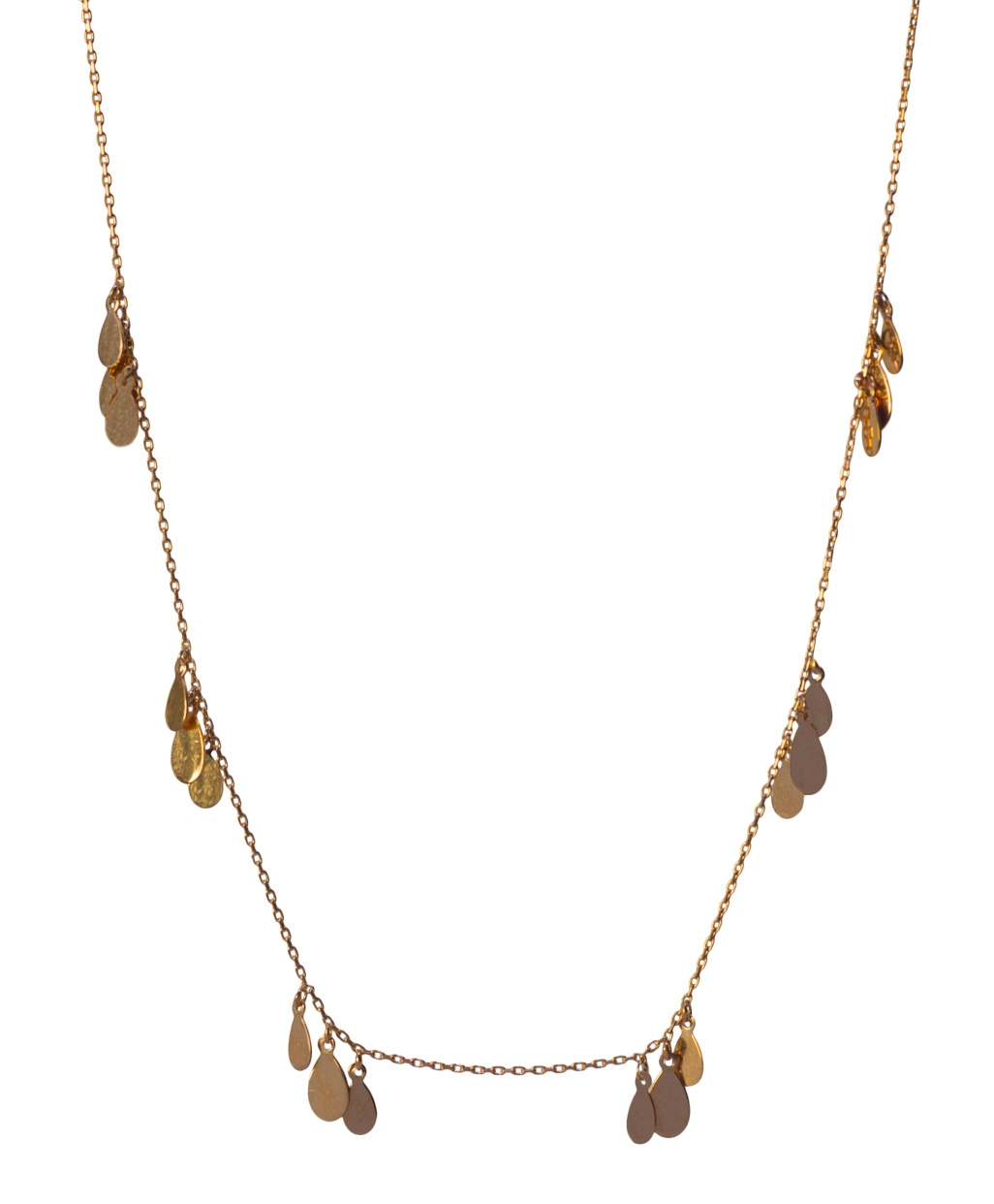 Three Flakes Silver Necklace