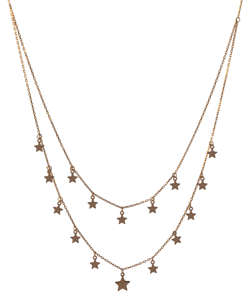 Two Lines Star Silver necklace