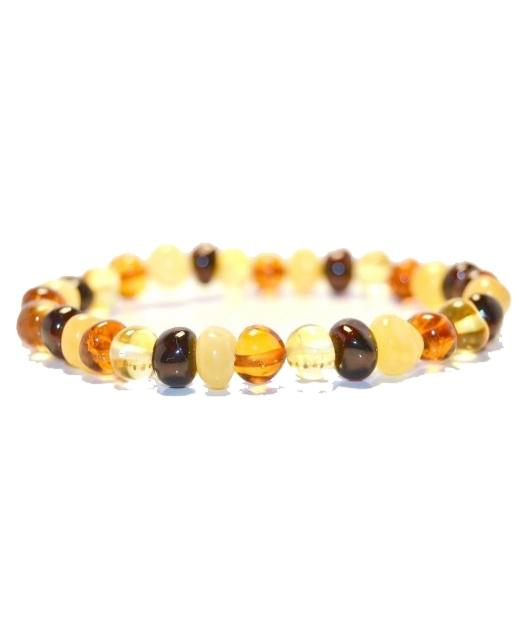 Multi Color Amber Bracelet