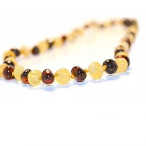 LEMON CHERRY AMBER NECKLACE